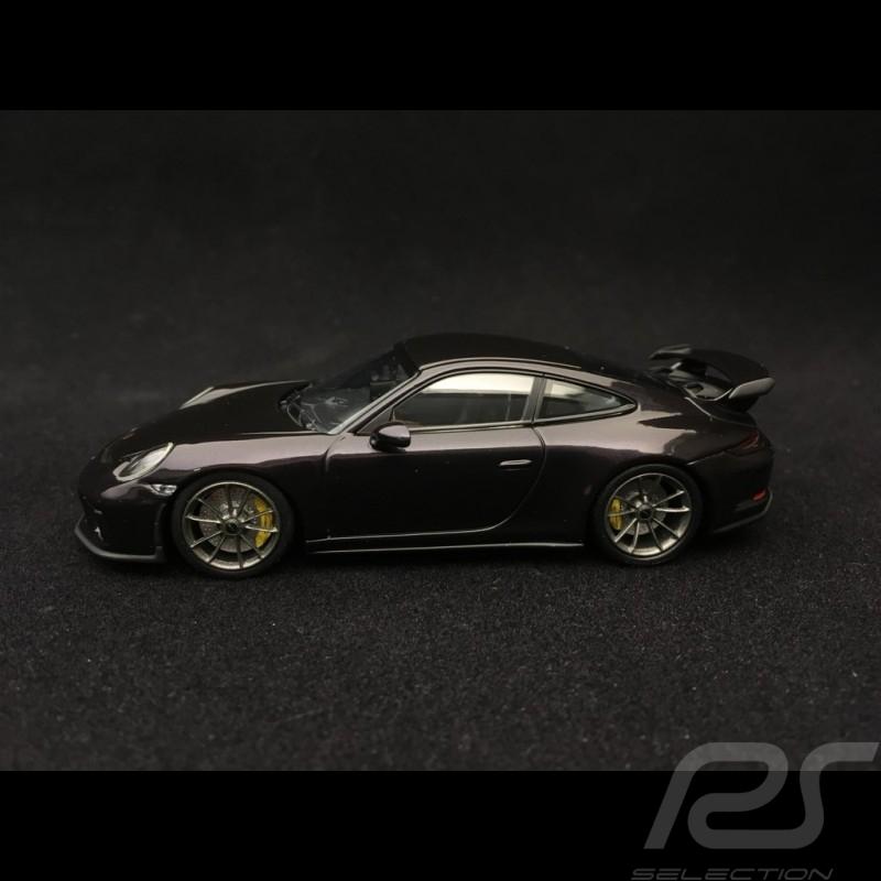 Porsche 911 type 991 GT3 phase II 2017 violet métallisée 1/43 Minichamps 410066027