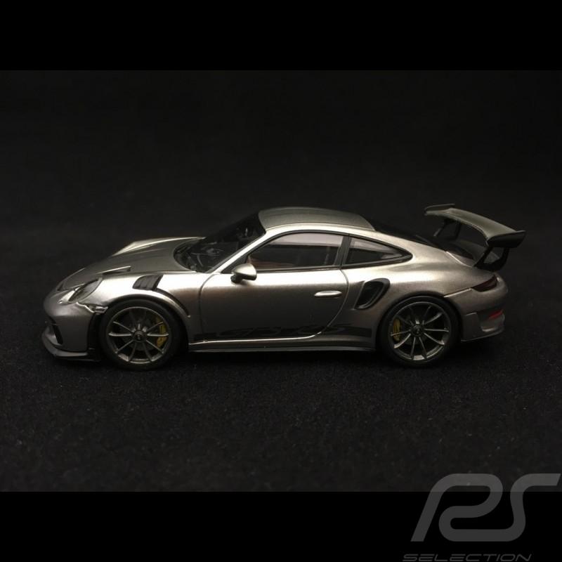 Porsche 911 GT3 RS type 991 phase II gris argent métallisé 1/43 Minichamps 410067020