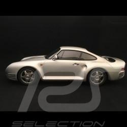 Porsche 959 1986 silver grey metallic 1/12 GT Spirit GT218