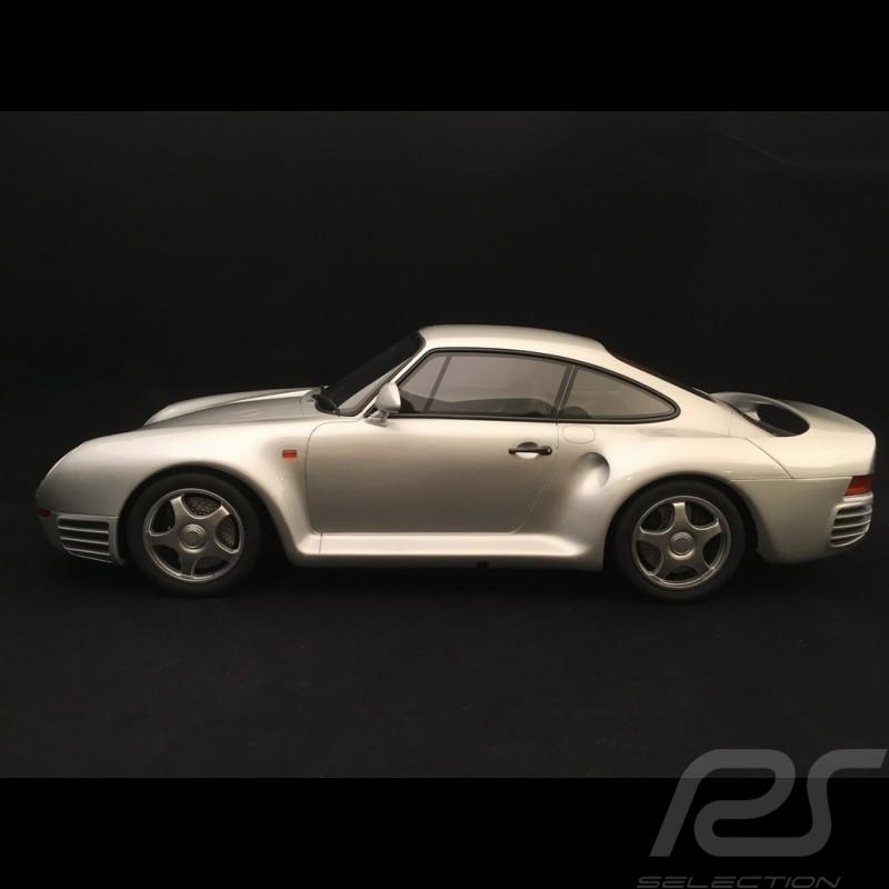 Porsche 959 1986 gris argent métallisé 1/12 GT Spirit GT218
