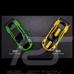 Set Porsche 911 GT3 RS / 911 GT2 RS Record Rekord Nürburgring 1/43 Minichams WAX02020087