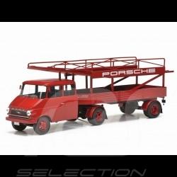 Opel Blitz Porsche LKW-Träger 1963 rot 1/18 Schuco 450008400
