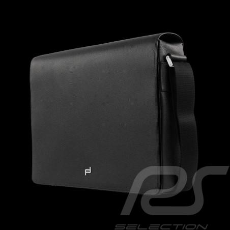 Porsche Tasche Laptop / Messenger Schultertasche schwarze Leder French Classic 3.0 Porsche Design 4090001527
