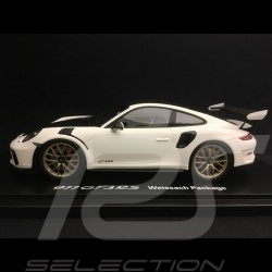 Porsche 911 GT3 RS type 991 Mark II Pack Weissach 2018 White / black 1/18 Spark WAP0211690K