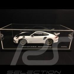 Porsche 911 GT3 RS type 991 Mark II Pack Weissach 2018 White / black 1/18 Spark WAP0211690K