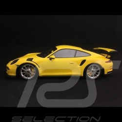 Porsche 911 type 991 GT3 RS 2015 jaune / argent 1/18 Minichamps 153066231