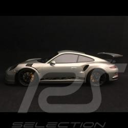 Porsche 911 type 991 GT3 RS 2015 argent / noir 1/18 Minichamps 153066232