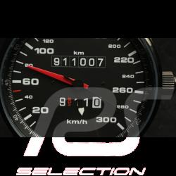 Porsche 911 300 km/h speedometer Watch black case / black dial