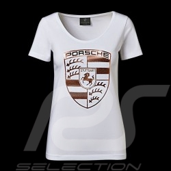 Porsche T-shirt mighty crest white / gold Porsche Design WAP822 - woman