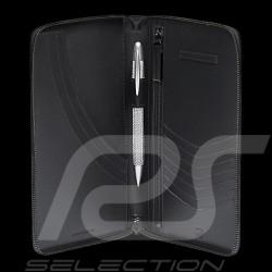 Portefeuille Porsche grande taille Porte-monnaie cuir noir Ecusson Porsche WAP0300350K wallet money holder Geldbörse Geld