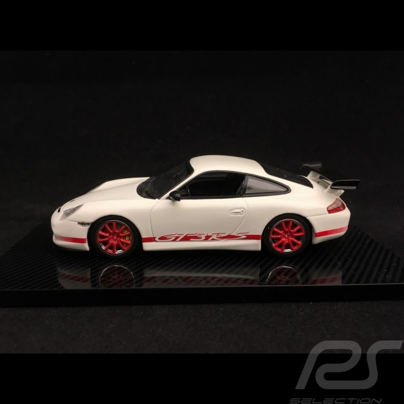 Porsche 911 Type 996 Gt3 Rs 2004 White Red Stripes 1 43 Minichamps Wap02011114 Selection Rs