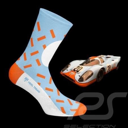 Chaussettes Socks Socken Gulf JWA bleu / orange / blanc - mixte