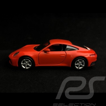 Porsche 911 type 992 Carrera 4S Coupe lava orange Pullback toy 1/43 Maisto WAP0200270K