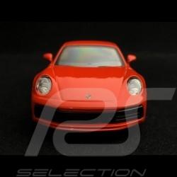 Porsche 911 type 992 Carrera 4S Coupe 1/43 Maisto WAP0200270K Lava orange fusion à friction pullback toy spielzeug