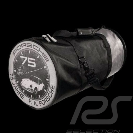 Porsche sports bag F.A. Porsche 75 years Black / Silver Porsche Design WAP1060000CFAP