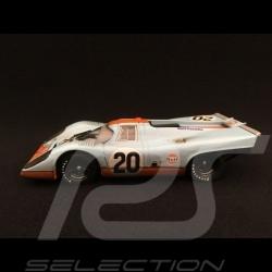 Porsche 917 K Le Mans 1970 n° 20 Gulf JWA finish line 1/43 Brumm R493R