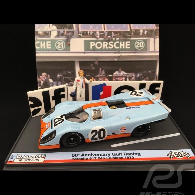 Porsche 917 K Gulf Le Mans 1970 n° 20 mit figuren 1/43 Brumm S1801