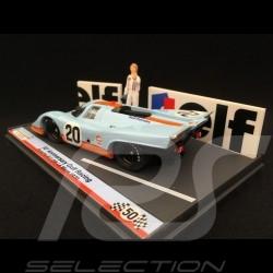 Porsche 917 K Gulf Le Mans 1970 n° 20 with figurine 1/43 Brumm S1801