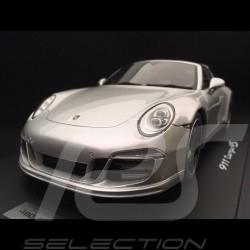 Porsche 991 Targa 4S Exclusive Mayfair Edition 2015 gris argent 1/18 Spark WAX02100011