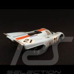Porsche 917 K Le Mans 1970 n° 21 Gulf JWA finish line 1/43 Brumm R494R