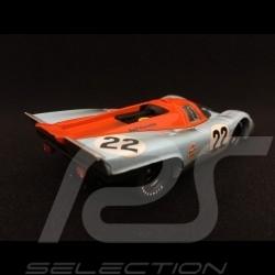 Porsche 917 K Le Mans 1970 n° 22 Gulf JWA finish line 1/43 Brumm R495R