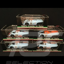 Set Porsche 917 K Gulf JWA 1970 1/43 Brumm R555 R556 R493 R494 R495