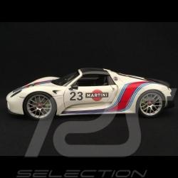 Porsche 918 Spyder Weissach Martini n° 15 white grey 1/18 Welly MAP02184818