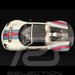 Porsche 918 Spyder Weissach Martini n° 23 white grey 1/18 Welly MAP02184818