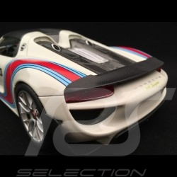 Porsche 918 Spyder Weissach Martini n° 15 blanc-gris 1/18 Welly MAP02184918