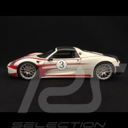Porsche 918 Spyder Salzburg n° 3 white grey / red 1/18 Welly MAP02184818