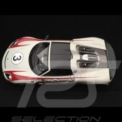 Porsche 918 Spyder Salzburg n° 3 gris-blanc / rouge 1/18 Welly MAP02184818