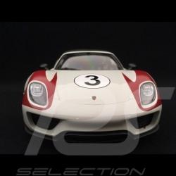 Porsche 918 Spyder Salzburg n° 3 white grey / red 1/18 Welly MAP02184818