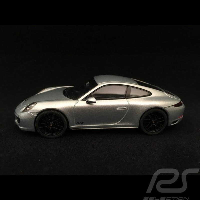 Porsche 911 Carrera 4 GTS type 991 phase II 2017 1/43 Herpa WAP0201060H gris rhodium rhodium grey rhodium silbergrau