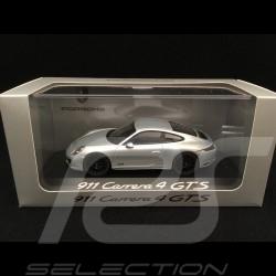 Porsche 911 Carrera 4 GTS type 991 Mk II rhodium silbergrau 1/43 Herpa WAP0201060H
