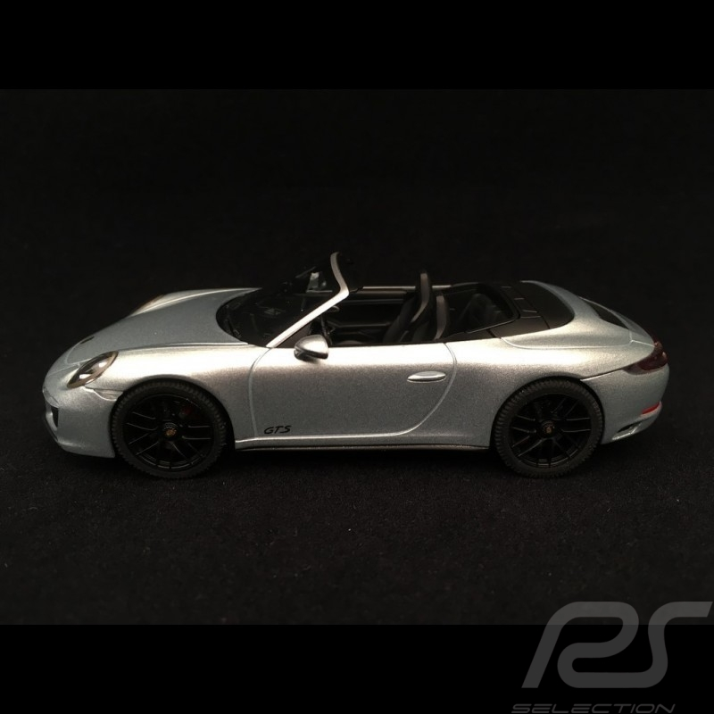 Porsche 911 Cabriolet Carrera 4 GTS type 991 Mk II 2017 rhodium grey 1/43 Herpa WAP0201040H
