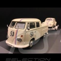 Set VW T1 with trailer & Beetle n° 53 Herbie 1/43 Schuco 450374200