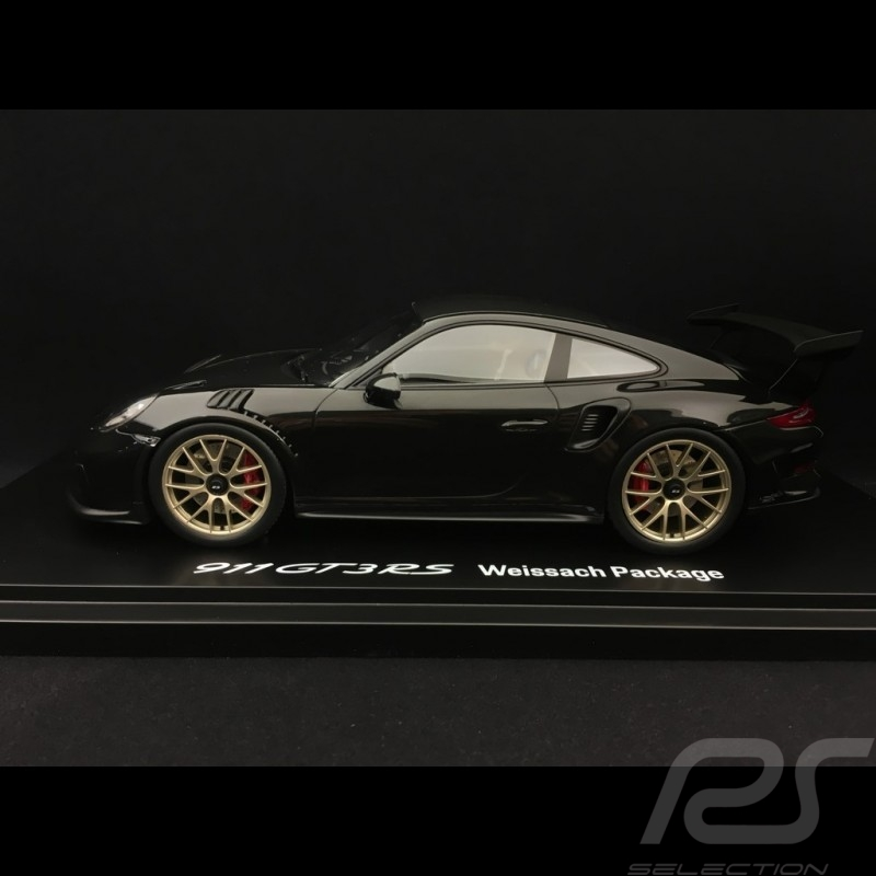 Porsche 911 GT3 RS type 991 Mark II Pack Weissach 2018 black / carbon 1/18 Spark WAP0211680K