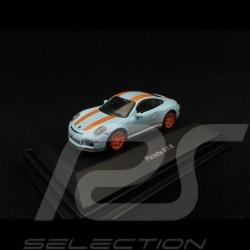 Porsche 911 R type 991 2018 bleu gulf bande orange 1/87 Schuco 452637500