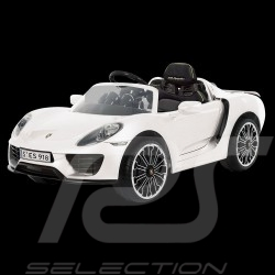 Battery vehicle Electric carrier for children 12V Porsche 918 Spyder White