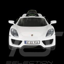 Batterie-auto Elektrotransporter für Kinder 12V Porsche 918 Spyder Weiß