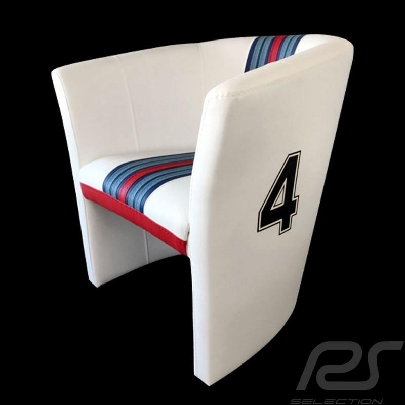 Tub chair Racing Inside n° 4 white Racing team / red