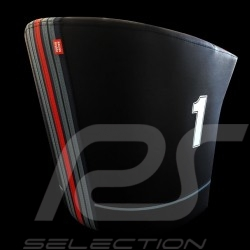 Fauteuil cabriolet Tub chair Tubstuhl Racing Inside n° 1 noir Racing team / rouge