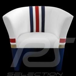 Fauteuil cabriolet Tub chair Tubstuhl Racing Inside n° 186 blanc / bleu / rouge / or Dakar