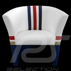 Tub chair Racing Inside n° 186 white / blue / red / gold Dakar