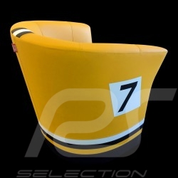 Fauteuil cabriolet Tub chair Tubstuhl Racing Inside n° 7 jaune Fashion / noir / blanc