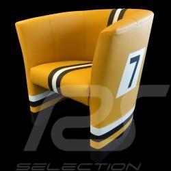 Fauteuil cabriolet Tub chair Tubstuhl Racing Inside n° 7 jaune Fashion / noir / blanc