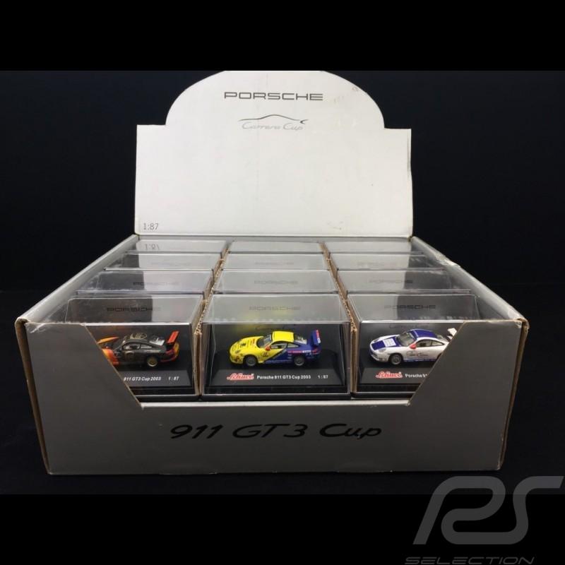 Set 24 Porsche 911 GT3 cup typ 997 in display box 1/87 Schuco WAP022SET01