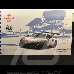 Porsche 911 RSR typ 991 24h du Mans 2018 n° 93 Porsche Team 1/18 Spark 18S403