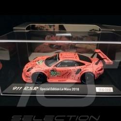 Porsche 911 RSR type 991 24h du Mans 2018 n° 92 Cochon rose 1/43 Spark WAP0209250K vainqueur winner sieger