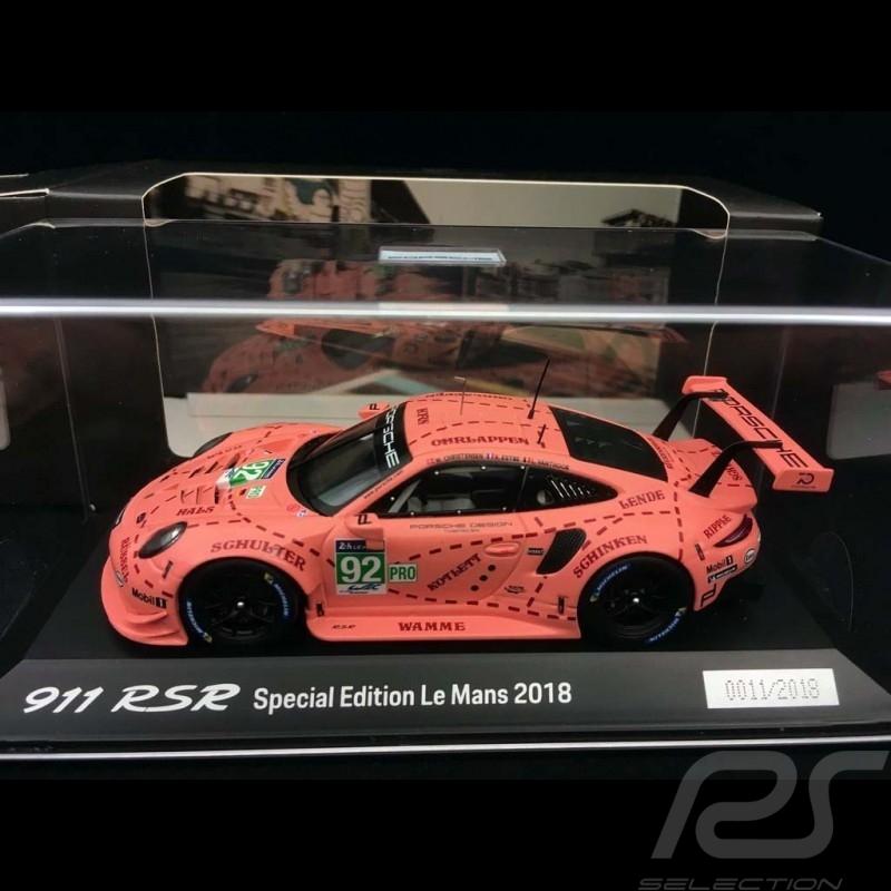 Porsche 911 RSR typ 991 Sieger 24h du Mans 2018 n° 92 Sau Exemplar Nr. 4/2018 1/43 Spark WAP0209250K